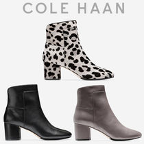 Cole Haan Leopard Patterns Round Toe Casual Style Plain Leather