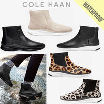 Cole Haan ZEROGRAND Leopard Patterns Round Toe Rubber Sole Casual Style Plain