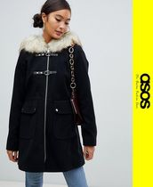 ASOS Faux Fur Medium Duffle Coats