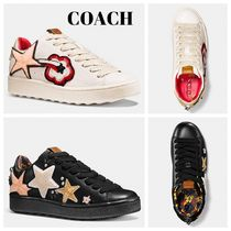 Coach Star Round Toe Rubber Sole Casual Style Blended Fabrics