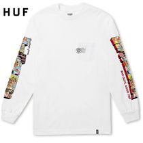 HUF Street Style Long Sleeves Logos on the Sleeves