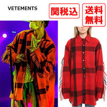 VETEMENTS Other Check Patterns Wool Street Style Long Sleeves Shirts