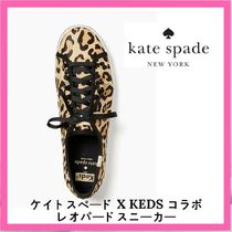 kate spade new york Leopard Patterns Casual Style Low-Top Sneakers