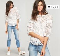 Milly Cropped Cotton Shirts & Blouses