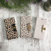 Leopard Patterns Faux Fur Handmade Smart Phone Cases