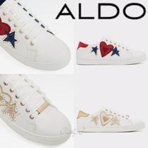 ALDO Flower Patterns Star Round Toe Rubber Sole Lace-up