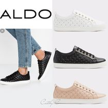 ALDO Round Toe Rubber Sole Lace-up Casual Style Blended Fabrics
