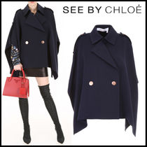 See by Chloe Plain Elegant Style Ponchos & Capes