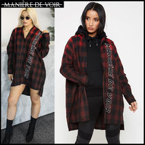 Tartan Casual Style Unisex Street Style Cotton Long