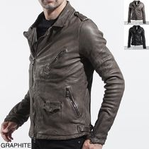 Giorgio Brato Leather Biker Jackets
