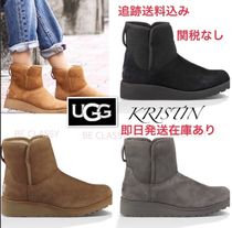 UGG Australia KRISTIN Round Toe Rubber Sole Casual Style Sheepskin Street Style