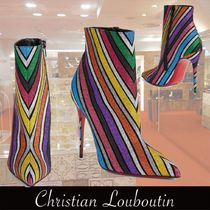 Christian Louboutin So Kate Stripes Pin Heels Ankle & Booties Boots
