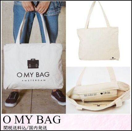 Casual Style Unisex Canvas A4 Totes