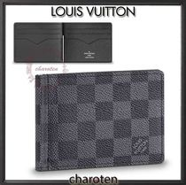 Louis Vuitton DAMIER GRAPHITE Other Check Patterns Canvas Folding Wallets