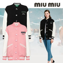 MiuMiu Casual Style Wool Medium Varsity Jackets