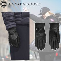 CANADA GOOSE Plain Leather Elegant Style Leather & Faux Leather Gloves