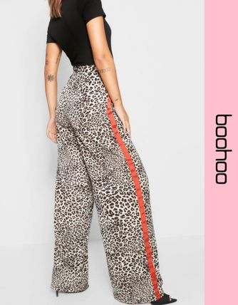 Printed Pants Leopard Patterns Casual Style Pants
