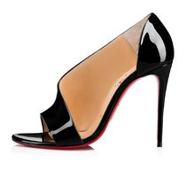 Christian Louboutin Open Toe Enamel Plain Peep Toe Pumps & Mules