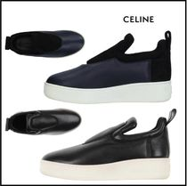 CELINE Casual Style Street Style Plain Leather Low-Top Sneakers