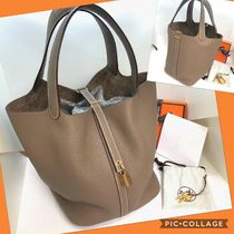 HERMES Picotin A4 Plain Leather Home Party Ideas Elegant Style Bags
