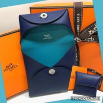 HERMES Jypsiere Plain Leather Home Party Ideas Coin Cases