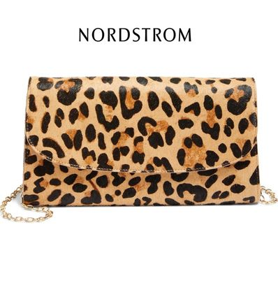 Leopard Patterns Spawn Skin Party Style Shoulder Bags