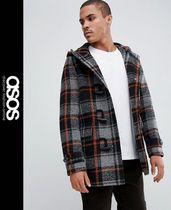 ASOS Other Check Patterns Wool Duffle Coats