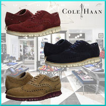 Cole Haan ZEROGRAND Wing Tip Suede Plain Oxfords
