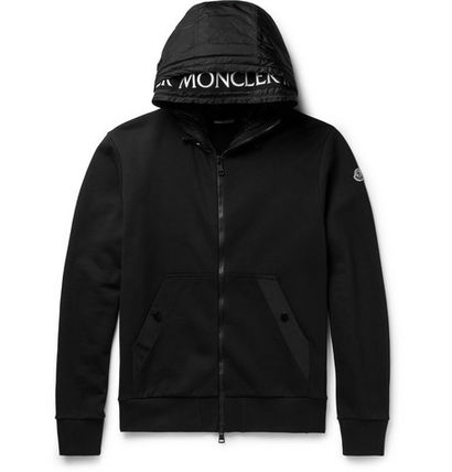 MONCLER Hoodies Blended Fabrics Street Style Long Sleeves Plain Cotton 2