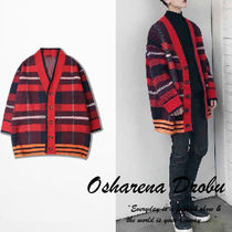 Pullovers Other Check Patterns Unisex Street Style Oversized