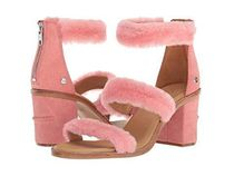UGG Australia Open Toe Fur Plain Party Style Chunky Heels