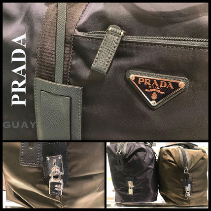 PRADA Plain Boston & Duffles