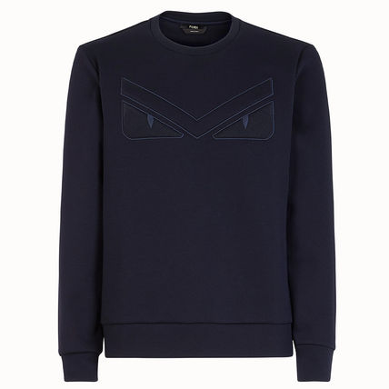 FENDI Sweatshirts Crew Neck Sweat Long Sleeves Plain Sweatshirts 2