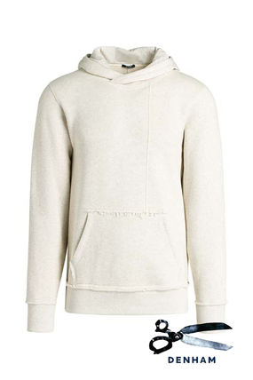 Pullovers Street Style Long Sleeves Plain Cotton Hoodies