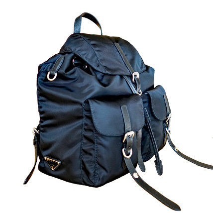 PRADA Backpacks Casual Style Nylon Blended Fabrics Studded Plain Backpacks 9