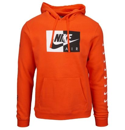 Nike Hoodies Pullovers Street Style Long Sleeves Plain Cotton Hoodies