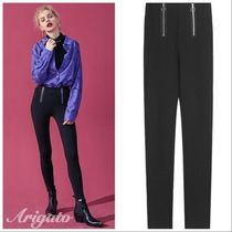 ELF SACK Casual Style Street Style Plain Long Skinny Pants