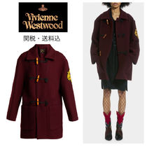 Vivienne Westwood Casual Style Wool Plain Medium Duffle Coats