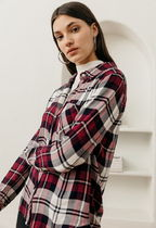 Rails Tartan Casual Style Long Sleeves Medium Shirts & Blouses