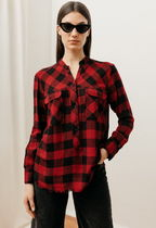 Rails Gingham Casual Style Long Sleeves Medium Shirts & Blouses