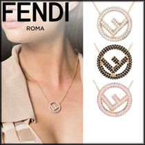 FENDI Brass Elegant Style Necklaces & Pendants