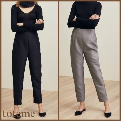 Casual Style Wool Plain Pants