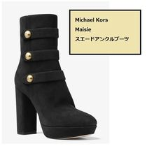 Michael Kors Round Toe Rubber Sole Suede Plain Ankle & Booties Boots