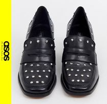 ASOS Casual Style Studded Leather Block Heels