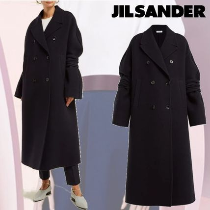 Wool Plain Medium Coats