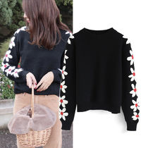 Chicwish Flower Patterns Sweaters