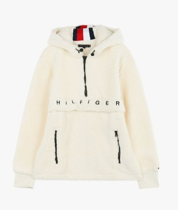Tommy Hilfiger Hoodies Unisex Long Sleeves Plain Oversized Hoodies 2