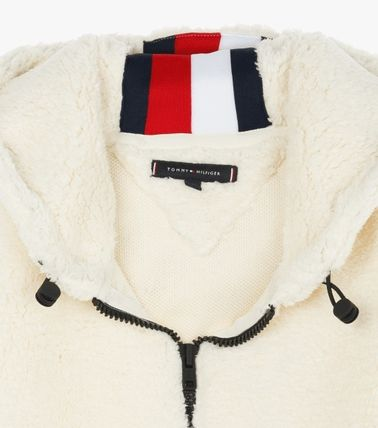 Tommy Hilfiger Hoodies Unisex Long Sleeves Plain Oversized Hoodies 4