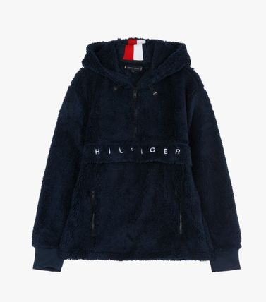 Tommy Hilfiger Hoodies Unisex Long Sleeves Plain Oversized Hoodies 6