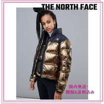 THE NORTH FACE Short Blended Fabrics Plain Down Jackets